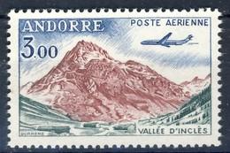 +D3031. Andorra 1961. Airmail. Vallée D'Inclès. Michel 176. MNH(**) - Poste Aérienne