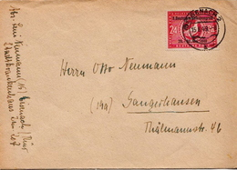 Postal History Cover: Germany / Soviet Zone Overprinted Pigeon Stamp On Cover - Columbiformes