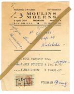 Merksem: 1953, S.A. 3 MOULINS - 3 MOLENS  N.V.   Flocons D'avoine   Havermout - 1950 - ...