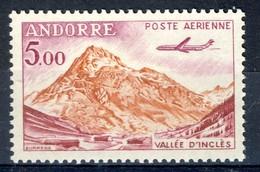 +D3032. Andorra 1961. Airmail. Vallée D'Inclès. Michel 177. MNH(**) - Poste Aérienne