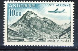+D3033. Andorra 1964. Airmail. Vallée D'Inclès. Michel 185. MNH(**) - Poste Aérienne