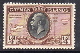 Cayman Islands GV 1935 ¼d Value, Map Of Islands, Hinged Mint, SG 96 - Cayman Islands
