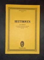 Musica Spartiti - Edition Eulemburg No. 9 - Beethoven - Quartet - Op. 130 - Non Classificati