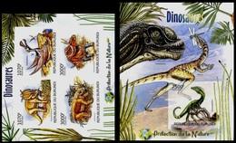 (051-52) Burundi  2012 / Animals / Dinos / Prehistoric ** / Mnh  Michel 2555-58 B + BL 235 B - Stamps