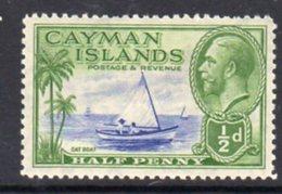 Cayman Islands GV 1935 ½d Value, Cat Boat, Hinged Mint, SG 97 - Cayman Islands