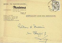 PK Publicitaire TIELT 1947 -  MODERNA - Boek- En Papierhandel - Tielt