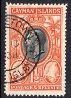Cayman Islands GV 1935 1½d Value, Conch Shells, Used, SG 99 - Cayman Islands