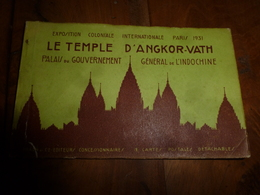 1931  Exposition ---> Le TEMPLE D'ANGKOR-VATH (carnet Contenant 9 CPA ) - Cambodge