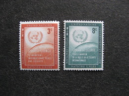 O.N.U. Siège De New-York: TB Paire N° 52 Et N°53, Neufs XX. - New York -  VN Hauptquartier