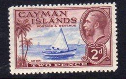 Cayman Islands GV 1935 2d Value, Cat Boat, Hinged Mint, SG 100 - Cayman Islands
