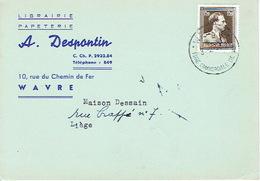 CP Publicitaire WAVRE 1954 - A. DESPONTIN - Librairie, Papeterie - Waver