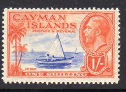 Cayman Islands GV 1935 1/- Value, Cat Boat, Hinged Mint, SG 104 - Cayman Islands