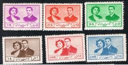1951 Königspaar Michel 840 - 845 Mit Gummierung Und Falz (x) - Iran