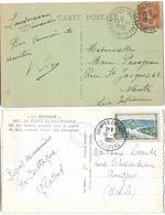 ENTREPOT QUIMPER FINISTERE A7 A4 - Storia Postale