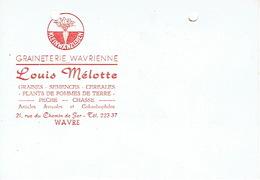 CP Publicitaire WAVRE 1959 - Louis MELOTTE - GRAINETERIE WAVRIENNE - Graines, Semences, Céréales, Pêche, Chasse - Wavre