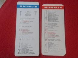 LOTE DE 2 MARCAPÁGINAS BOOK MARK BOOKMARK O SIMIL A IDENTIFICAR, MICHELIN CON SÍMBOLOS IMÁGENES HOTEL RESTAURANTE, VER - Marcapáginas