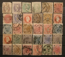 Österreich Lot Merkur & Kreuzer 1863 - 1880 Gestempelt    (I130) - 1850-1918 Imperio
