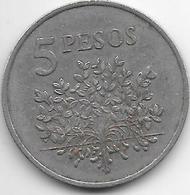 Guinea Bissau 5 Pesos  1977   Km 20   Vf+ - Guinea-Bissau