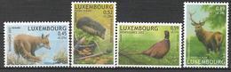 2002  Luxemburg Mi. 1593-6**MNH   Einheimische Tiere - Luxembourg