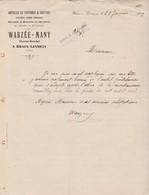Facture 1909 / WARZEE MANY / Spécialité Brouettes Meunier / 08 Braux Levrezy / Ardennes - 1900 – 1949