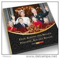 Belgique 2014 : Coffret BU 8 Pièces + Une Médaille Du Nouveau Couple Royal - Belgique