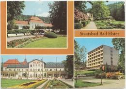 Staatsbad Bad Elster, Germany, Multi View, 1982 Used Postcard [21985] - Germany