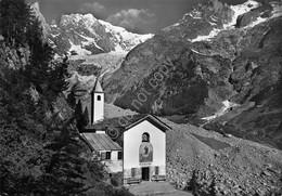 Cartolina Monte Bianco Panorama E Chiesa - Unclassified