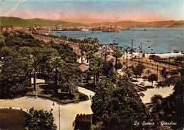 Cartolina La Spezia Giardini Spiaggia 1951 - La Spezia
