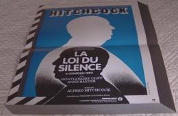 AFFICHE CINEMA FILM LA LOI DU SILENCE Alfred HITCHCOCK Montgomery CLIFT Anne BAXTER 1953 Ressortie Jouineau BOURDUGE - Affiches & Posters