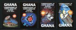 GHANA - 1981 Commission Of Earth Satellite Station Imperforated Mi. 884b/87b Serie Cpl. 4v. Nuovi** - Ghana (1957-...)