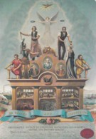 AMALGATED SOCIETY OF ENGINEERS. MACHINISTS, LILLWRIGHTS, SMITH @ PATTERN MAKERS  EMBLEM - Postcards