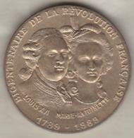 Medaille 1789 1989 Bicentenaire De La Révolution Française Louis XVI – Marie Antoinette - Monnaie De Paris