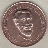 Medaille FERDINAND PRINCE DUC De NORREYS De LONGJUMEAU 1847 - France