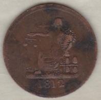 CANADA. HALF PENNY TOKEN 1812. GEORGES III - Canada