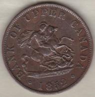 Bank Of Upper Canada, One Half Penny 1852 - Canada