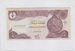 CENTRAL BANK OF IRAQ HALF DINAR 1/2 1973- BLEUP - Iraq
