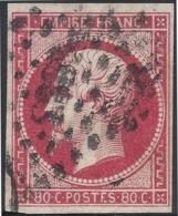 FRANCE 1860 80c ROSE Nº 17B - 1853-1860 Napoléon III