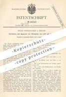 Original Patent - Franz Windhausen , Berlin , 1883 , Reinigung Von Luft Und Gasen | Gas , Gase | Lüftung , Gebläse !! - Historische Dokumente