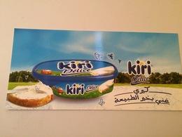 AFFICHETTE PUBLICITAIRE EN CARTON FROMAGE KIRI - Posters