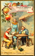 Chromo & Image - Chromo. - CHOCOLAT POULAIN - Les Fruits - La Pomme - En B. Et - Poulain