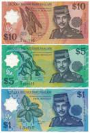 1996 // NEGARA BRUNEI DARUSSALAM // 1 & 5 & 10 Dollars // UNC - Brunei