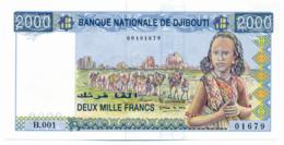 BANQUE NATIONALE DE DJIBOUTI // 2000 Francs // UNC - Dschibuti