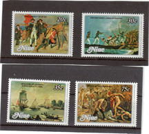 CV10 - NIUE - 242/245 ** MNH De 1979 - James COOK à Botany Bay / Erromanga / Résolution Et Discovery - Mort De COOK. - Niue