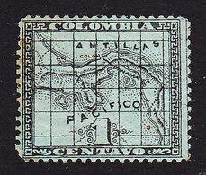 Panama, Scott #8, Mint Hinged, Map, Issued 1887 - Panama