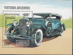 CAMBODJA  MI.NR. BLOCK 204 HISTORISCHE AUTOMOBILE USED / GEBRUIKT / OBLITERE 1994 - Cambodja
