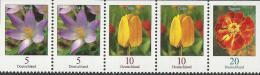 Germany - 2013 - Definitive - Flowers - Mint Definitive Top Stamp Strip - [7] Repubblica Federale