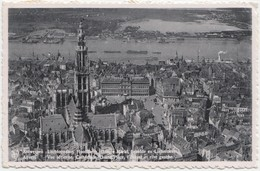 Antwerp, Anvers, Vue Aerienne, Cathedrale, Grand Place, 1950 Used Real Photo Postcard [21991] - Antwerpen
