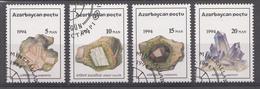 Azerbaïdjan 1994 Mi.nr: 136-139 Einheimische Mineralien  Oblitérés / Used / Gestempeld - Azerbaïdjan
