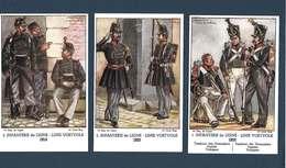 Armée Belge - LOT De 6 Cartes Postales - Infanterie De Ligne( 1833 à 1935) Illustrations De James Thiriar - Uniformes