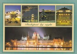 BUDAPEST BY NIGHT, MULTI VIEW VU VISTA-ARS UNA STUDIO. CIRCA 2000s- BLEUP - Hongarije